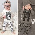 Wholesale Children Suits Summer Style Baby Clothes Monsters Printing Infant Clothes Long Sleeve Boy Clothes Set