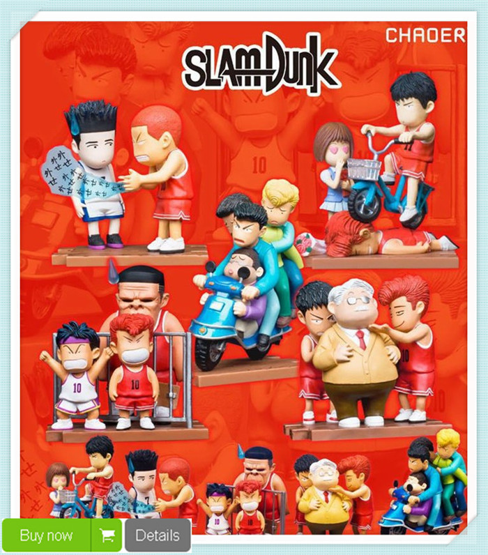 Hot Anime Cartoon Slam Dunk Sakuragi Hanamichi Rukawa Kaede PVC Action Figures Collectible Kids Toys 5pcs/Set Drop Shipping<br><br>Aliexpress
