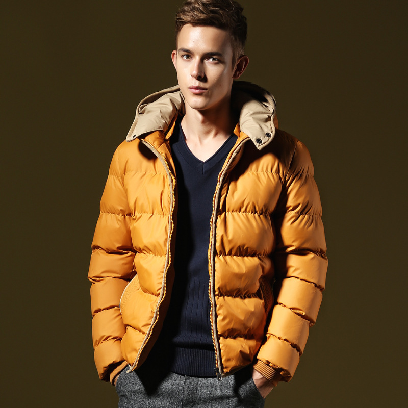 2014 Winter Jacket Men Padding Cotton Casual Down Jacket Parkas Warm Hooded Outdoors Thick Outwear Coats Jackets For Men