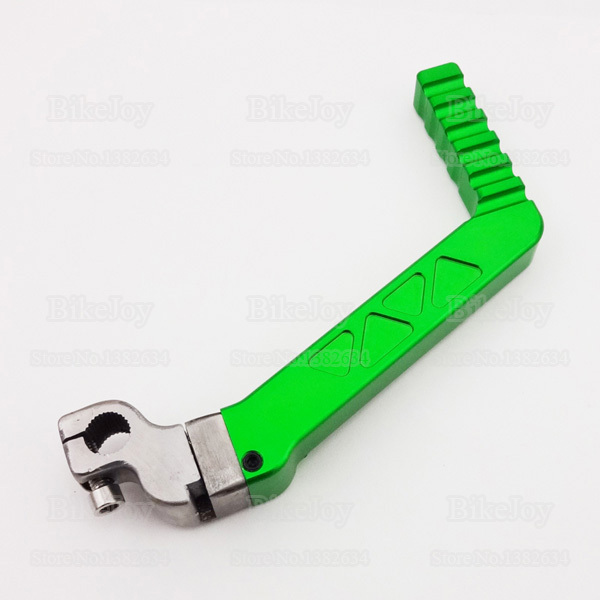 13mm CNC Kick Start Starter Lever Green for 50cc 110cc 125cc CRF KLX TTR YX Lifan Engine Pit Dirt Bike Motorcycle Motocross(China (Mainland))