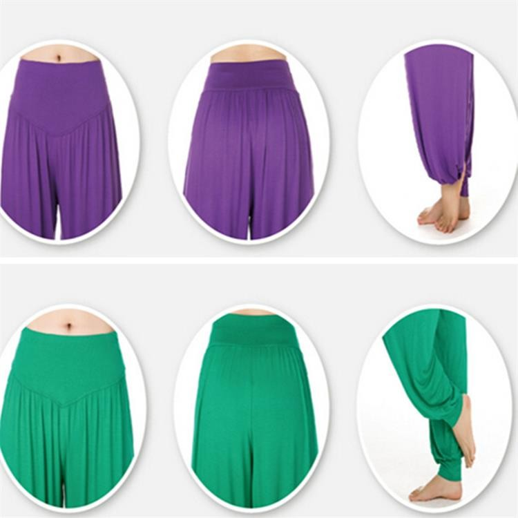 Yoga Pants Women Plus Size Colorful Bloomers Dance Yoga TaiChi Full Length Pants Smooth No Shrink Antistatic Pants Fast Shipping 2015 016