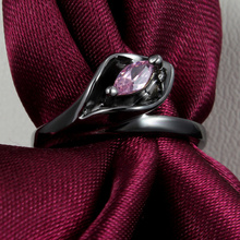 Black gold filled Wedding Rings For Women Ruby Ping CZ Diamond fashion Jewelry Cubic Zircon Classic