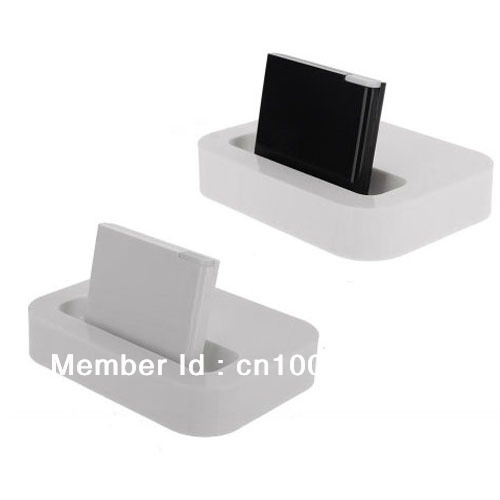 Black/White Wireless Bluetooth A2DP Music Audio Speaker Receiver Adaptor for iPhone iPod 30 Pin Dock Free Shipping Drop Shipment