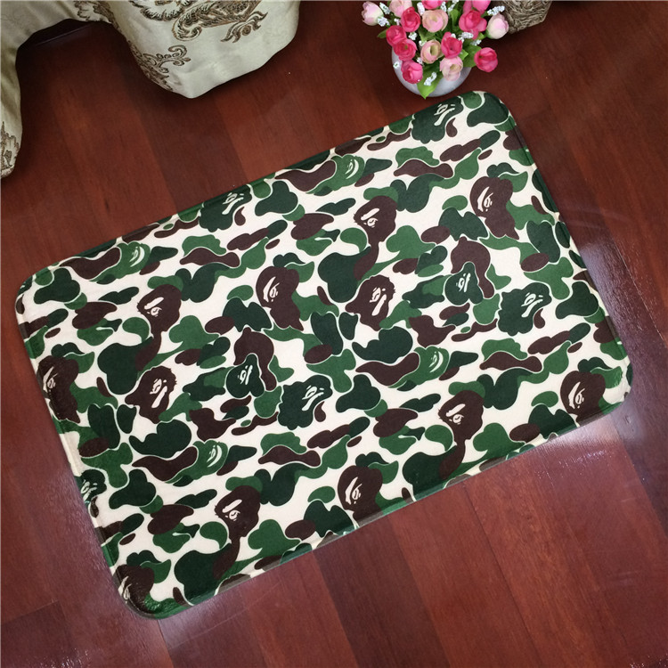 Fashion camouflage Square living room bathroom bedroom carpet camouflage mat water washing cleaning household wear pads(China (Mainland))