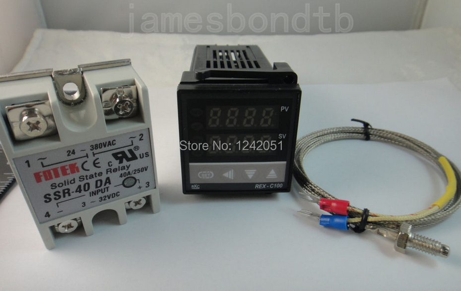 100-240V Digital PID Temperature Controller + max.40A SSR + K Thermocouple Probe(China (Mainland))