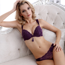 hot-selling new cotton high quality brand bra set sexy lingerie lace big size women underwear Tassel push up bra and briefs