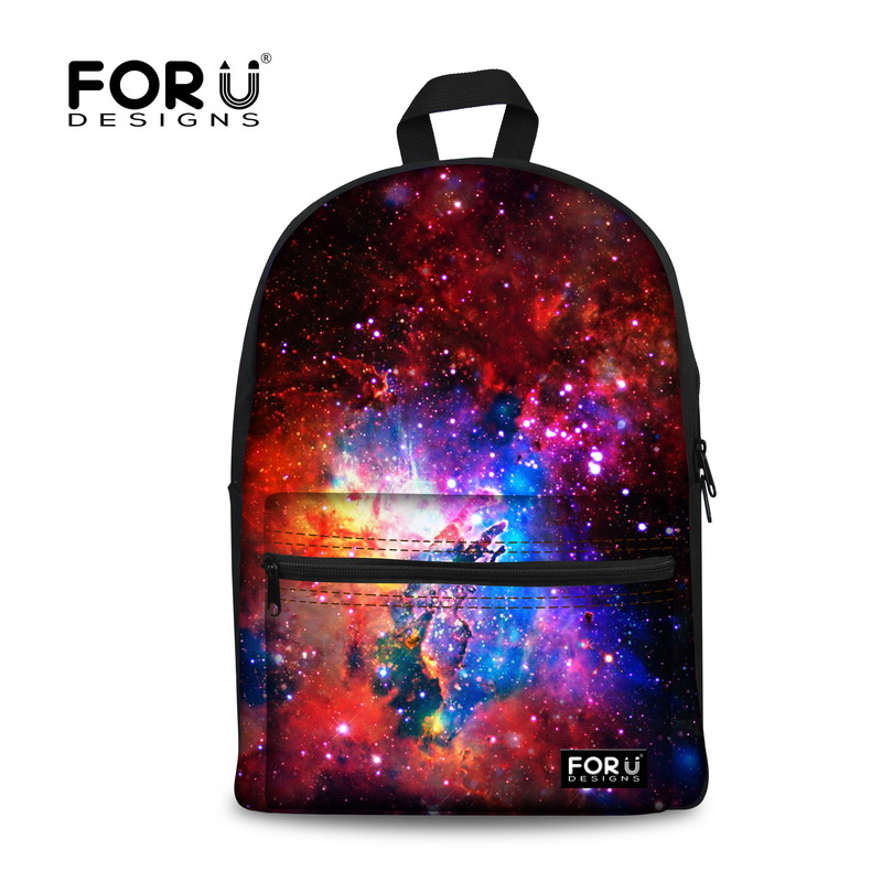 Children School Bags Men Women Galaxy Canvas Backpacks Teenagers Boys Girls Students Shoulder Schoolbag Kid Book Bag Mochila - KIDS FOR YOU,CO.,LTD store