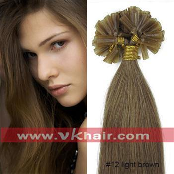 "100s 18""20""22"" inch Remy Nail Tip Hair 0.5g/s #12 light brown Extension STOCK Dropshipping(vk hair)"