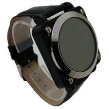 Descuento nueva marca LED mira los relojes LED Digital Mirror relojes para hombre y mujeres deportivo de cuero relojes militares