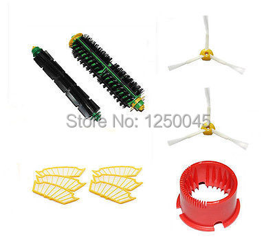 Flexible Beater Bristle Brush Filter Side brush Clean tool for iRobot Roomba 500 series 510 530 560 570 580 Free Shipping(China (Mainland))