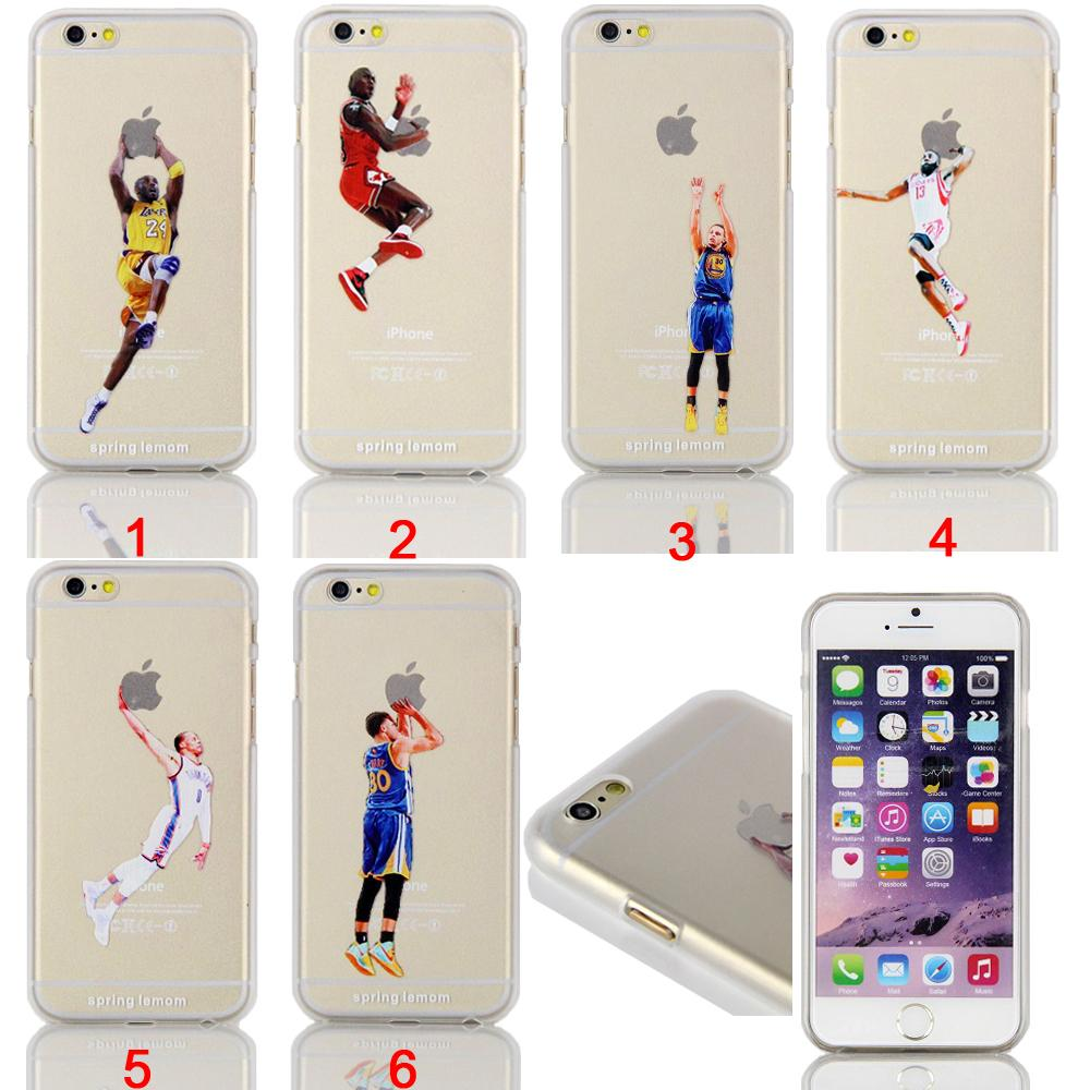 Basketball Star Jordan Kobe Bryant Dunk Transparent Hard Case iPhone 4/4s/5/5s/5c/6/6s/6plus/6s plus - ShenZhen Qing Ning Co. Ltd store