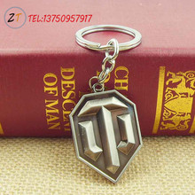 Fashion Online Game World of Tanks WOT Metal Keychain Pendent For Men's Key Chain Key Ring Gift 1pc Free shipping