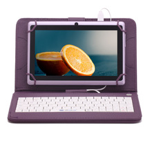 IRULU Tablet PC Android4.4 Kitkat  7″ HD 512MB RAM 16GB ROM Dual Camera Tablet External 3G  Quad Core  Purple Keyboard/Color