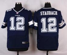 Dallas Cowboys #12 Roger Staubach #9 Tony Romo #8 Troy Aikman Elite White and Navy Blue Team Color High quality(China (Mainland))
