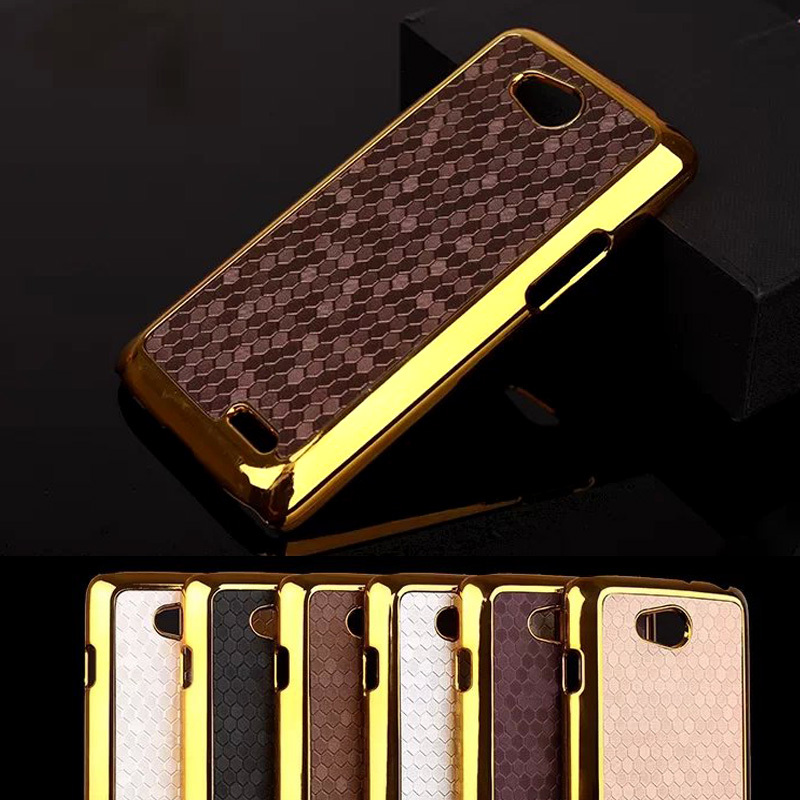Luxury Style Square Grid Chromed Edge Hard Case For LG Series III Optimus L90 D405 D415 D410 Plastic Mobile Phone Cases Cover(China (Mainland))