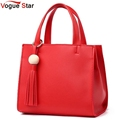 Vogue Star 2017 Fashion Women Bags Casual Tote Handbags For Women PU Leather Tote Bags Female