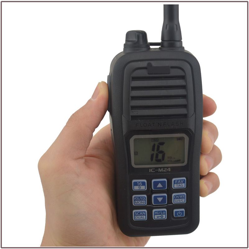 Hot Sale FLOAT'N FLASH IC-M24 VHF Marine Transceiver Waterproof (Submersible construction equivalent to IPX7) for icom(China (Mainland))