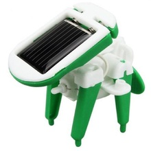 1 pc hot selling HOOT DIY 6 IN 1 Educational Learning Power Solar Robot Kit Children Kids Toy topping(China (Mainland))