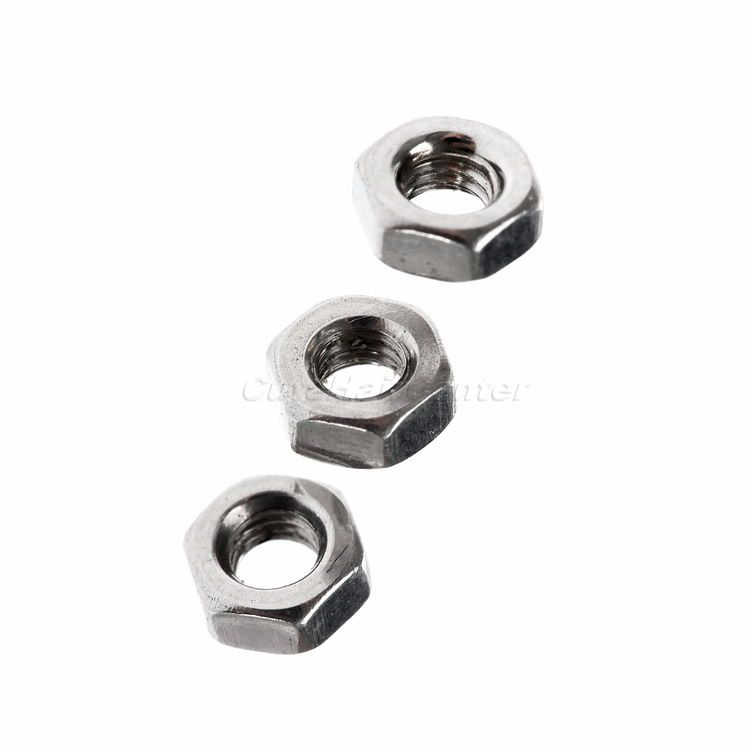 High Quality 100Pcs Dia Useful Steel Color Hex Screw Nut Stainless Steel Metric Thread Nuts Hexagon 3mm/M3(China (Mainland))
