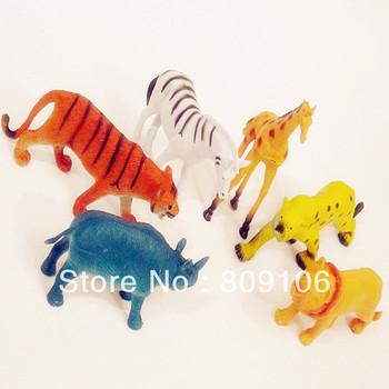 Wholesale/retail, free shipping,Animal artificial animal model of wild animal set toy