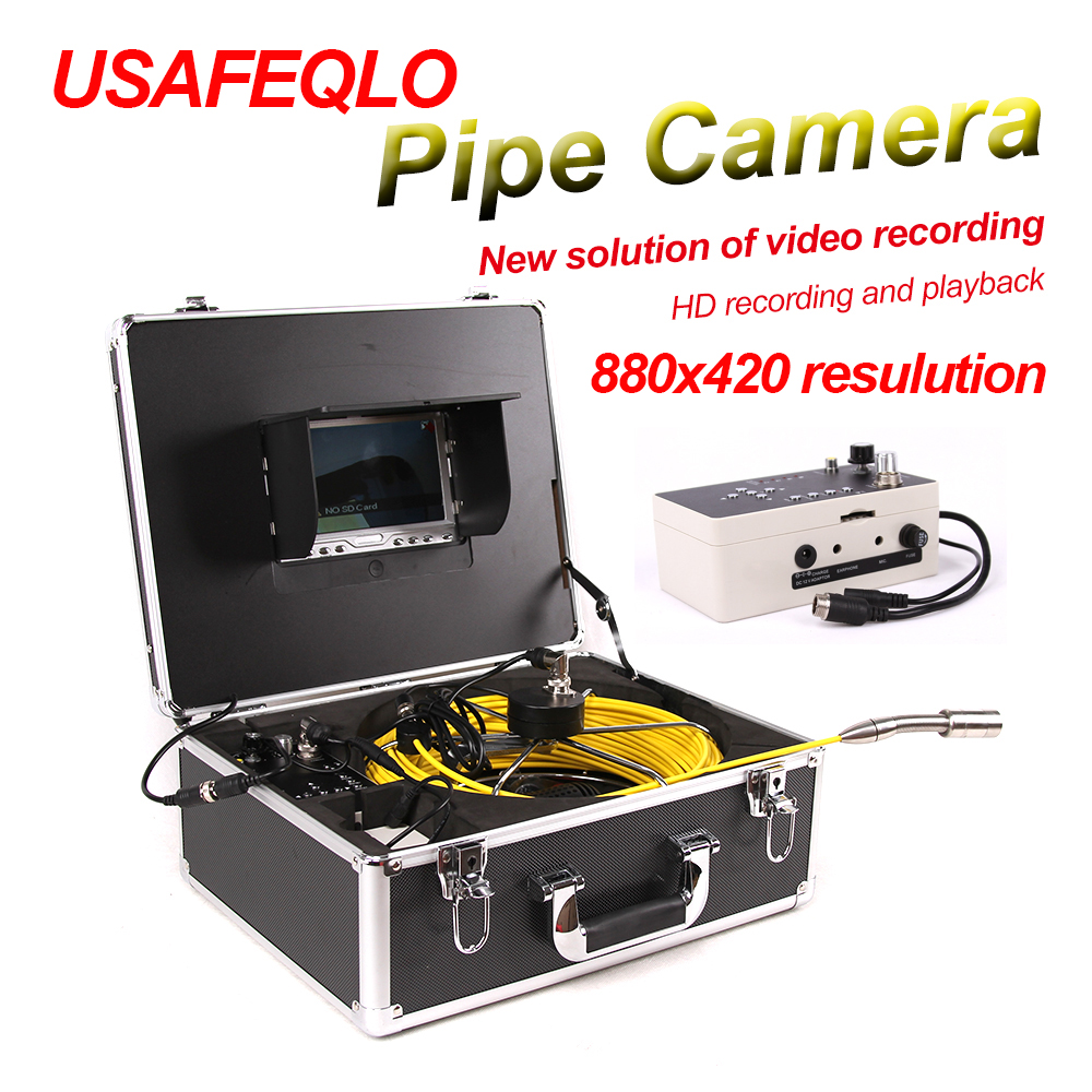 """Duct Cleaning Sewer Pipe Camera System Equipment For Pipeline & Wall Inspection with 7"""" LCD DVR Functional Fiberglass Cable(China (Mainland))"""