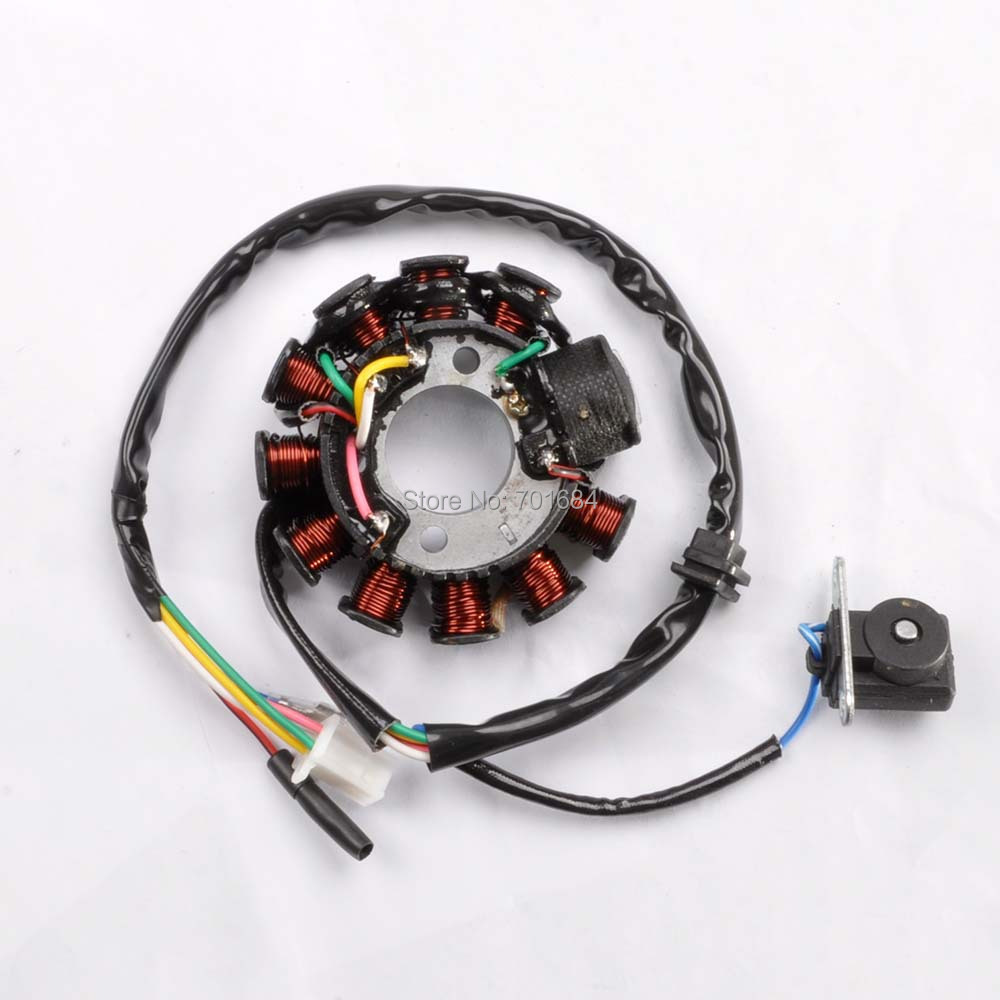 For 11 Coil Stator Magneto Plater For font b GY6 b font 125CC 152QMI 157QMJ Scooter