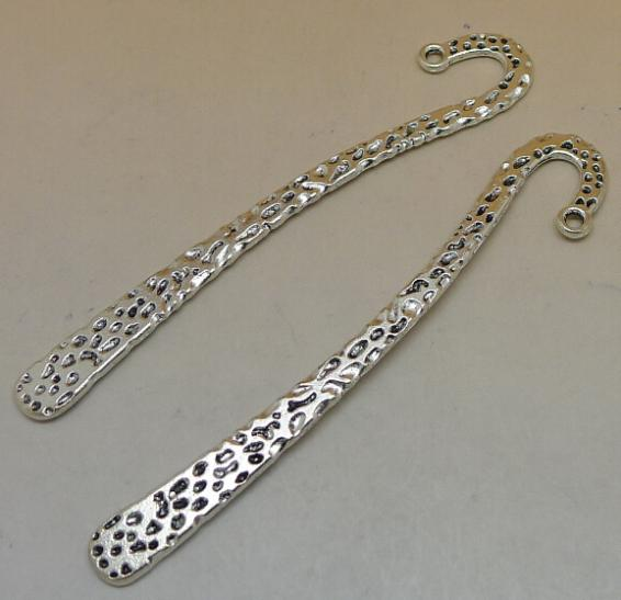 Bookmark A6569 50pc / bag 3.7 grams 82x12mm ancient silver alloy jewelry accessories wholesale(China (Mainland))