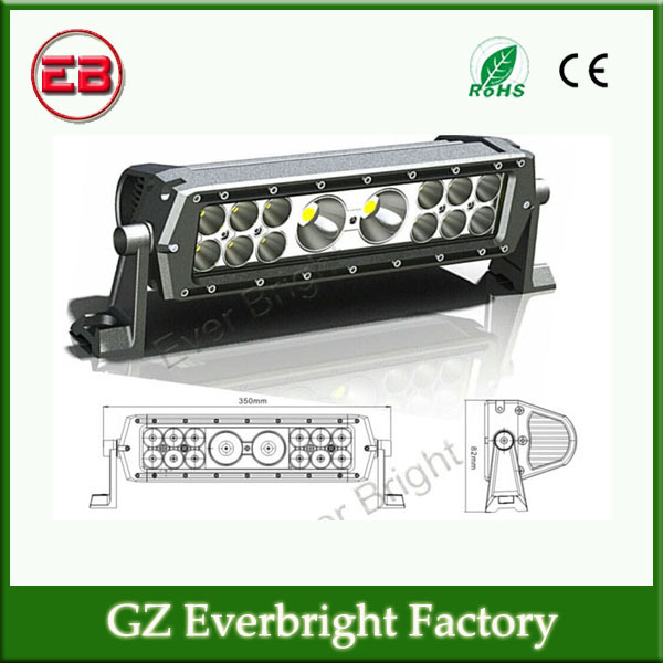1PC Free shipping 10-30 V DC 13.8inch 56W Mix 3W and 10W CREE Chip Led Light Bars Led Work Light Bar For Trucks Offroad(China (Mainland))