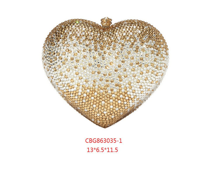 Gift Box Shinny Heart Shape Women Crystal Clutches Evening Purses Wedding Party Clutch Bags Rhinestones Diamond Handbags Bolso(China (Mainland))