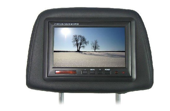 Freeshipping 7 inch Headrest TFT Monitor with Pillow car headrest monitor Built-in Speaker and dual IR