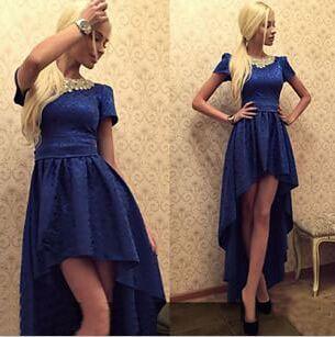 2015 new fashion dresses Vintage Sexy & Club  O-Neck Asymmetrical  women dresses hot sale(China (Mainland))