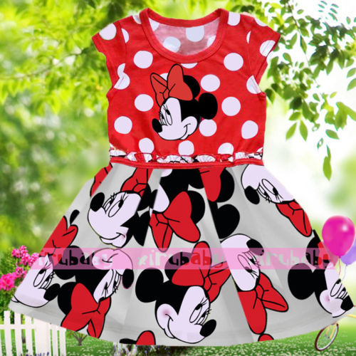 Baby Kids Girls Clothes,Bowknot Cosplay Printing Dress Age 1-6Y<br><br>Aliexpress