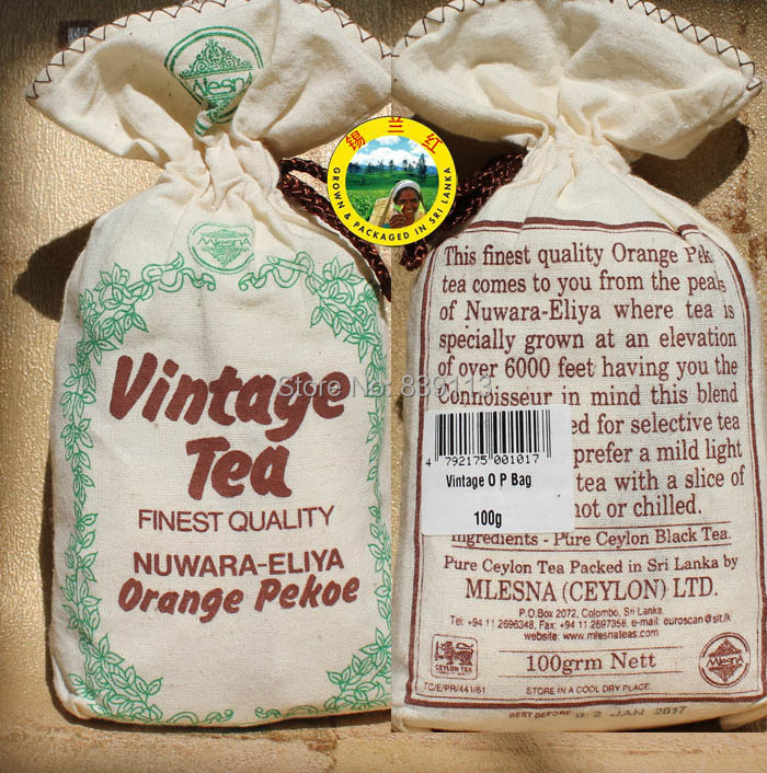 Pro Hot 2 bags 200g Mlesna Vintage black tea Pure Organic Ceylon tea from Nuwara