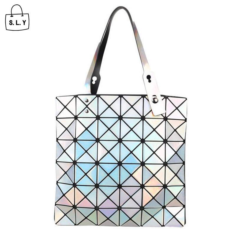 2015 New Women Fashion Laser BAOBAO Messenger bag Geometry Package Sequins Saser Plain Folding Handbags Shoulder Bags AW294 <br><br>Aliexpress