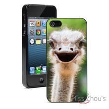 Ostrich Head protector back skins mobile cellphone cases for iphone 4/4s 5/5s 5c SE 6/6s plus ipod touch 4/5/6
