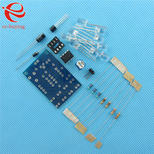 Blue Led 5MM Light LM358 Breathing Lamp Parts Kit Electronics DIY Kit Interesting Product Suite(China (Mainland))