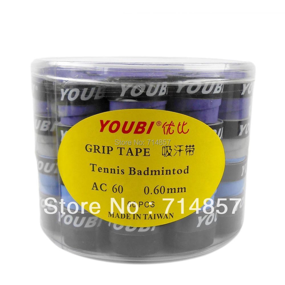 Free shipping, 60 x YOUBI AC60-1 Tennis Badminton Grip Tapes<br><br>Aliexpress