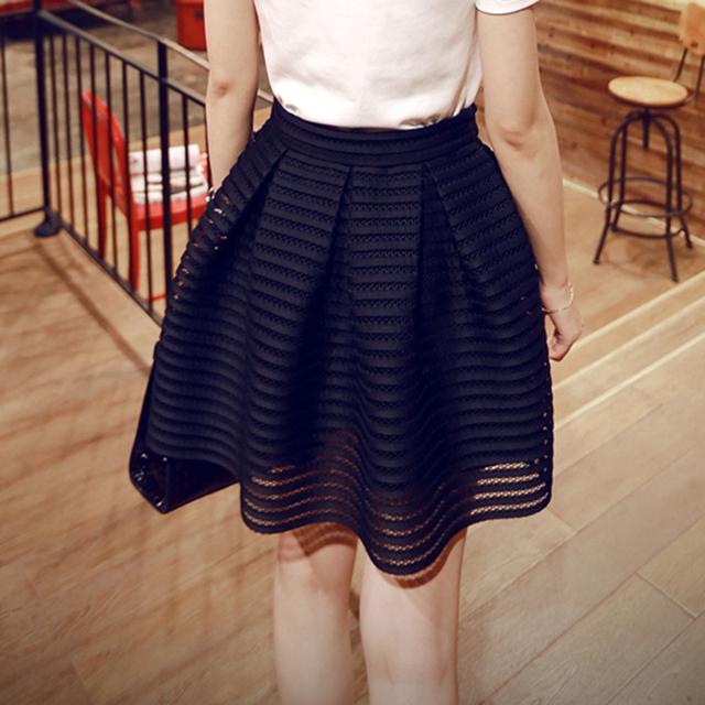 2015 лето Новый стиль сексуальная мода юбка женщин полосатый полым из пушистый длинная ...