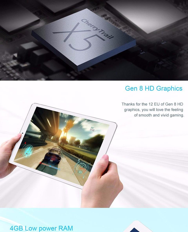 In Stock Teclast X98 plus II 9.7 Inch Tablet PC Retina IPS Screen 2048*1536 4G RAM 64G Dual OS Windows10&Android5.1 HDMI Slim