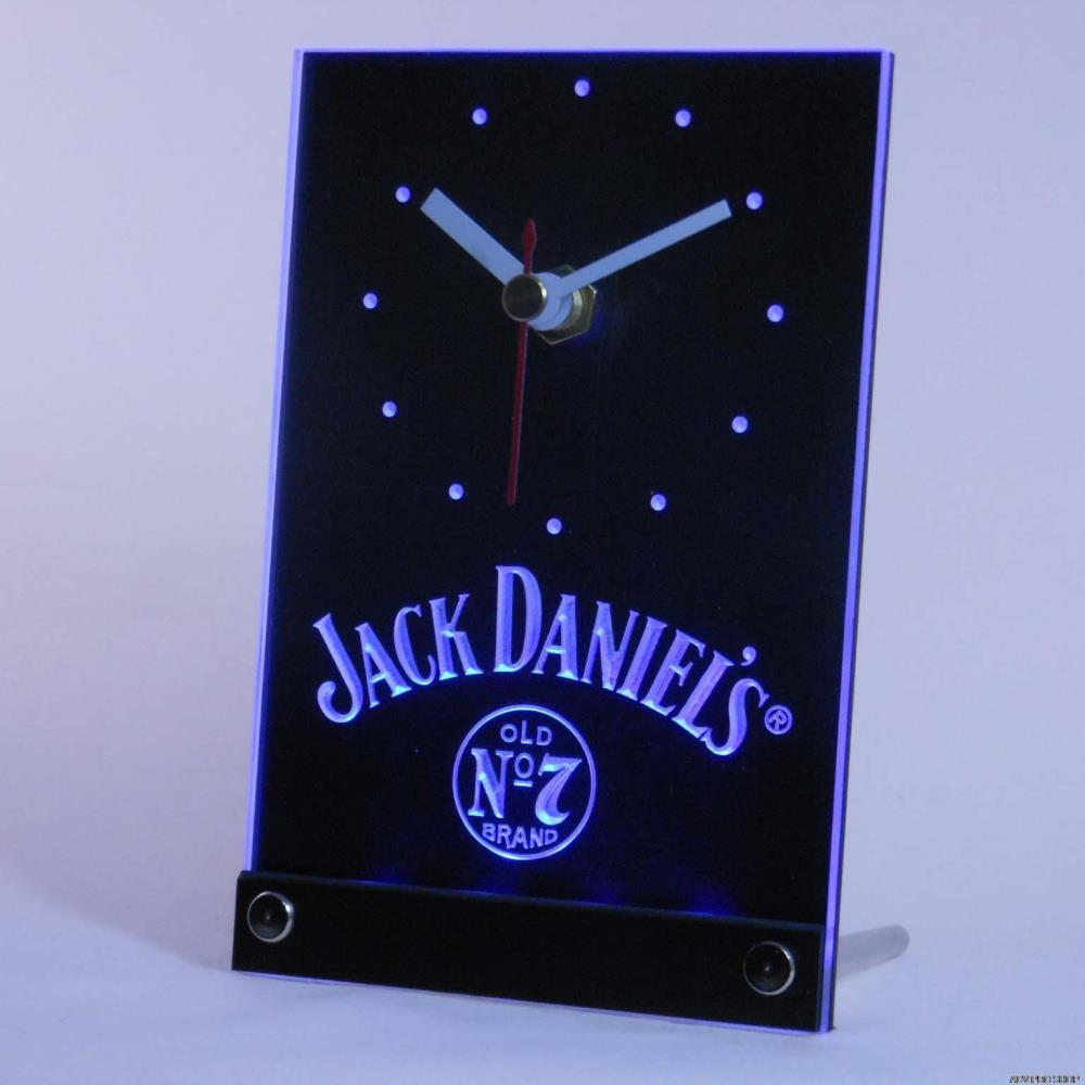 tnc0485 Whiskey 3D LED Table Desk Clock(China (Mainland))