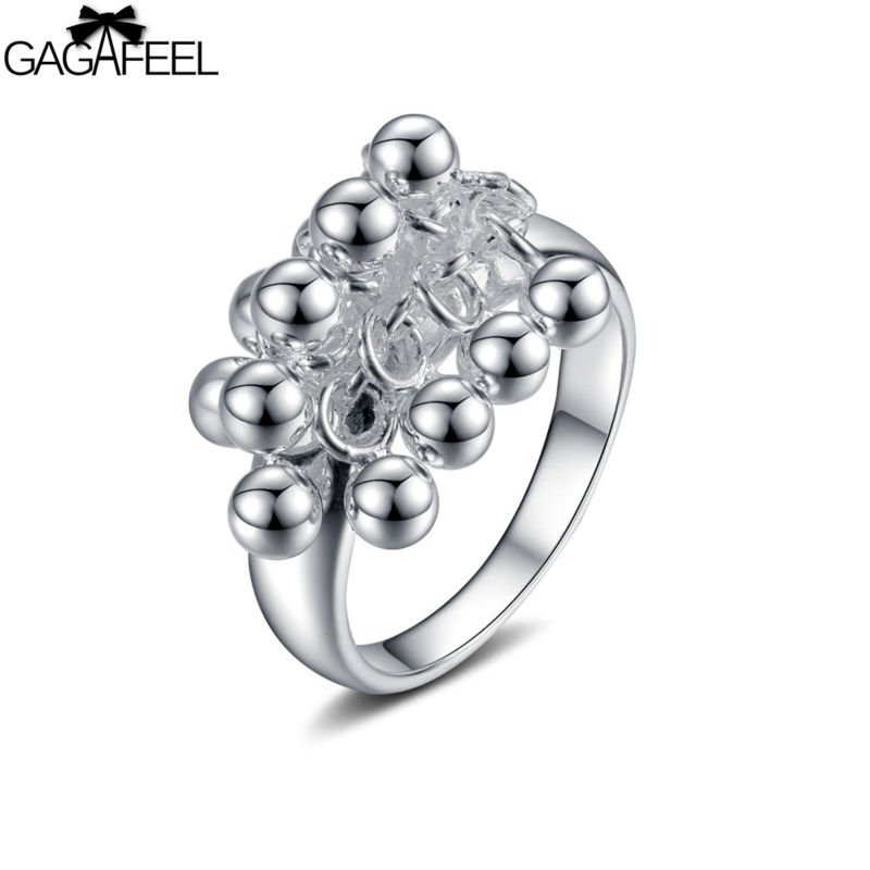 silver female fashion jewelry Women wedding flower rings price gifts SR016 - Gagafeel Jewelry Factory Co., Ltd store
