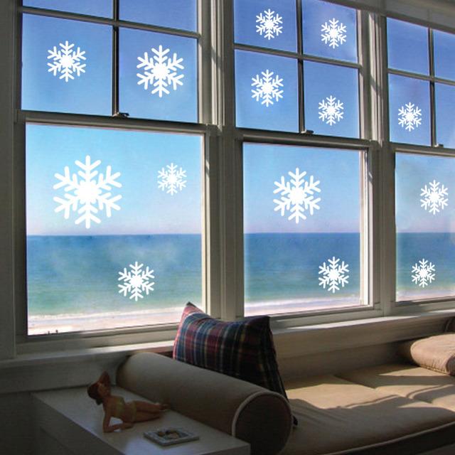 Рождество белые снежинки стикер окна кабинет стены новый год предметы интерьера стены стикеры обои