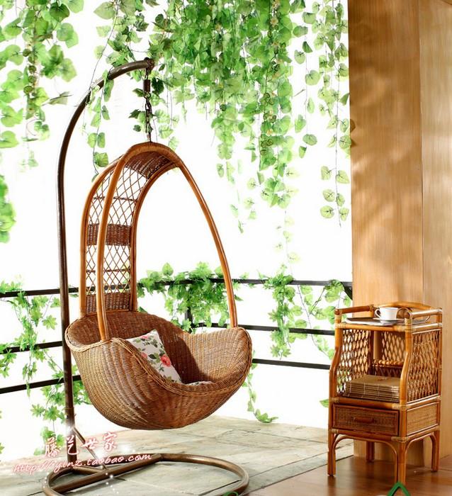 Rattan furniture rattan chair sofa rocking swing cane lounger hanging basket(China (Mainland))