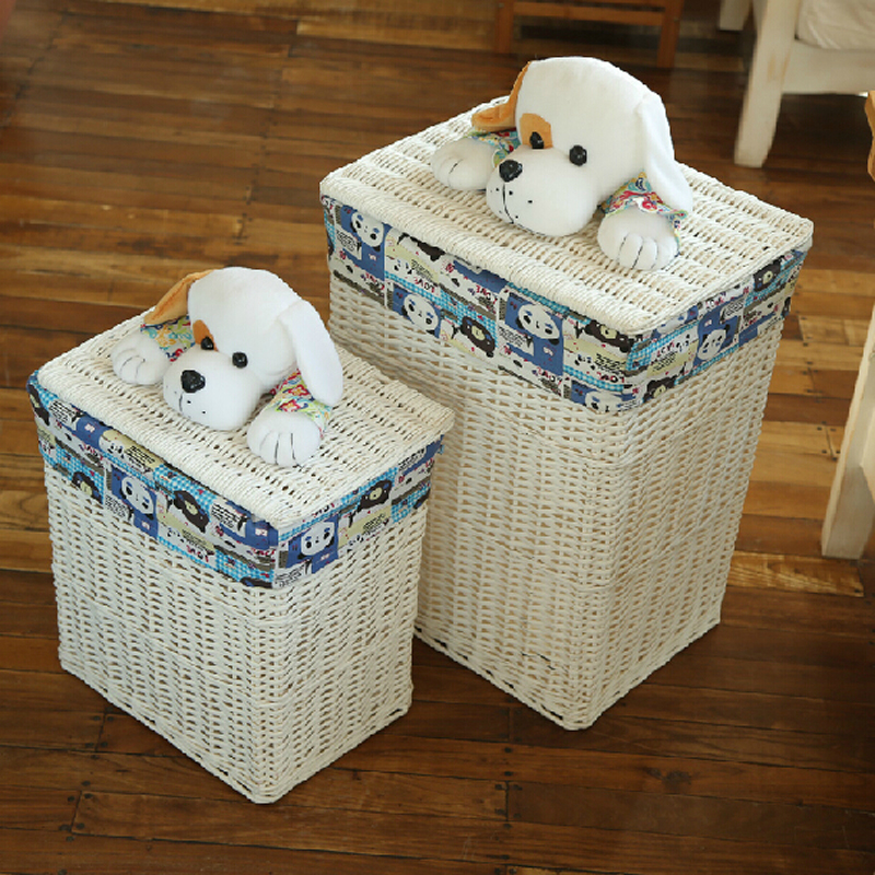 Decorative Wicker Baskets With Lids Large Laundry Basket