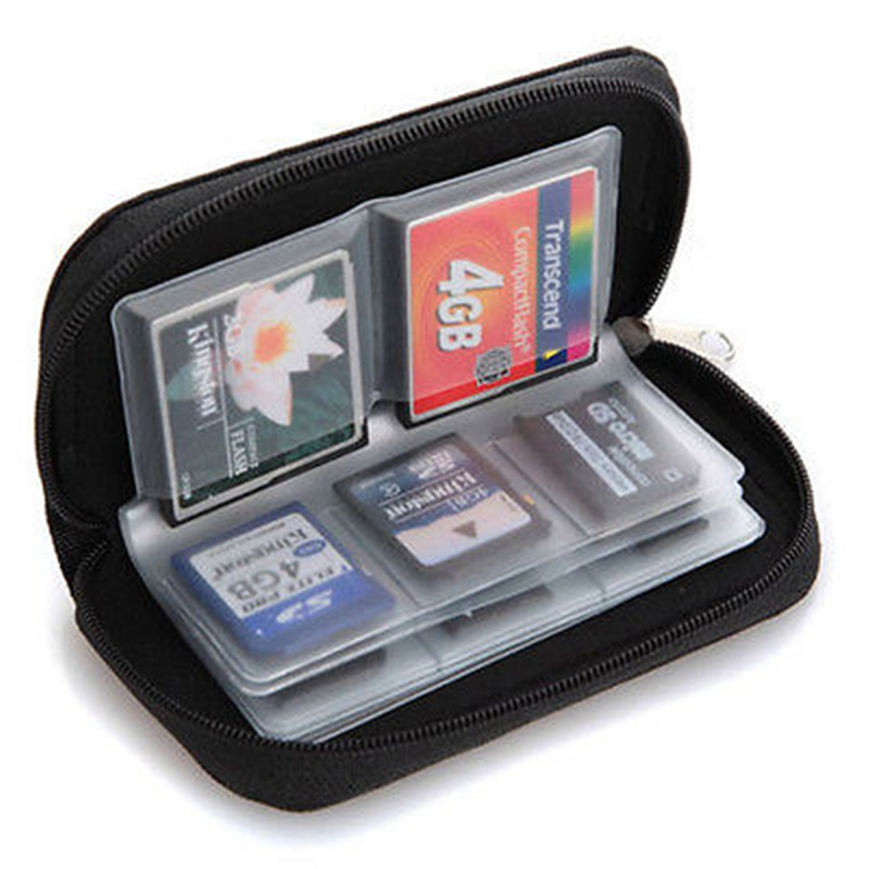 Brand New Excellent Quality 22pcs CF/SD/SDHC/MS/DS Micro Memory Card Case Storage Carrying Pouch Wallet Bag Holder 6 Colors(China (Mainland))