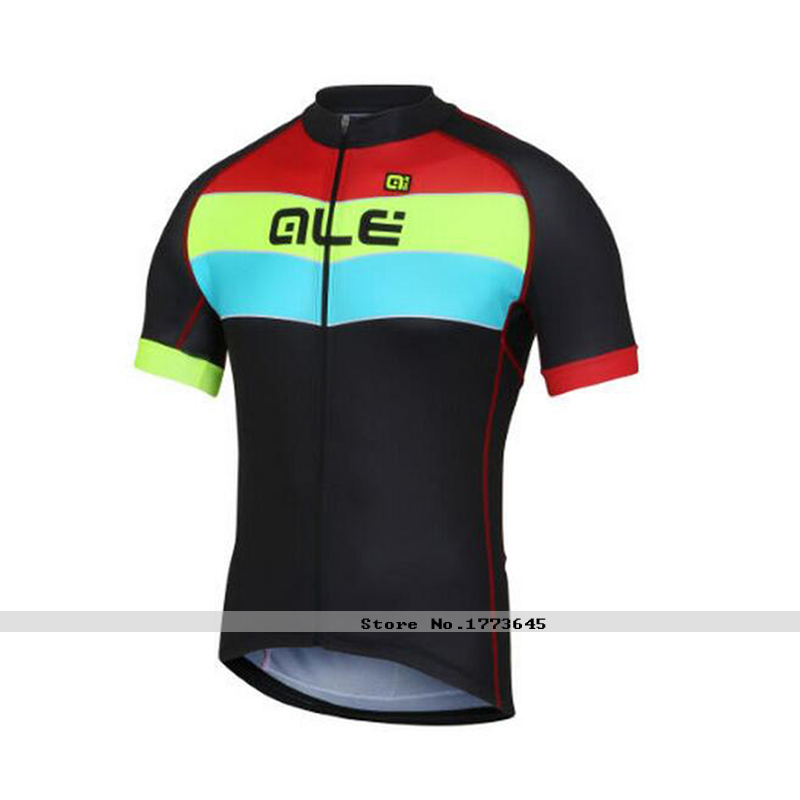 maillot ciclismo/ALE 2106 New Sportswear cycling jersey only /Short Sleeve//Cycling Clothing black blue(China (Mainland))