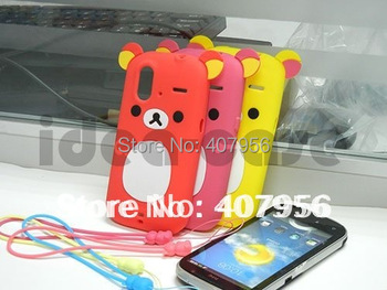 New Design Rilakkuma Lazy Bear Soft Back Case for HTC Amaze 4G Ruby G22,With high quality,free shipping 1pcs min order