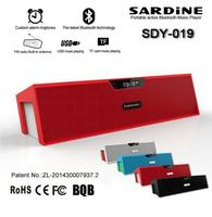 Original Sardine SDY-019 Nizhi HIFI Bluetooth Speaker Sardine FM Radio wireless USb Amplifier Stereo Sound Box with microphone