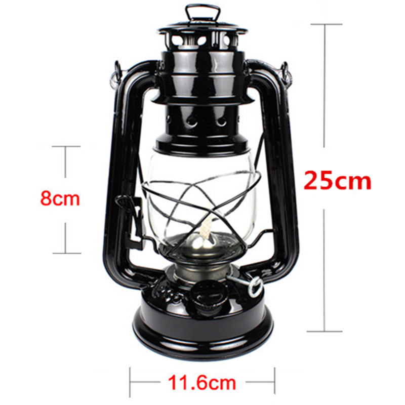 25cm Retro Classic Kerosene Lamp 6 Colors 235 LED Dimmable Kerosene Lanterns Wick Portable Lights Portable Lights Adornment(China (Mainland))