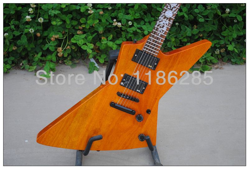 Free shipping Chinese musical instrument custom Ken Lawrence explorer flame sun inlay electric guitar<br><br>Aliexpress